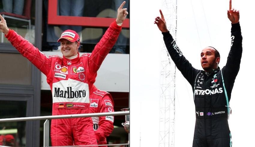 7. şampiyonluğunu İstanbul'da kazanan Hamilton, Schumacher'i yakaladı