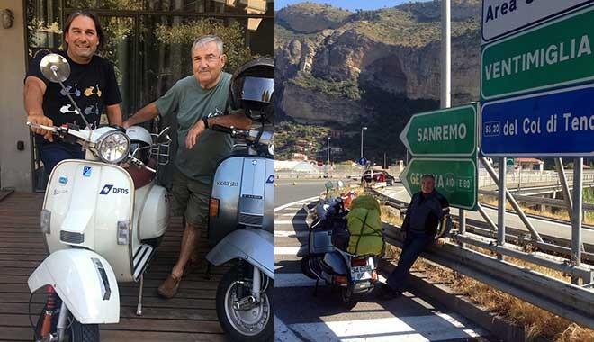 76 yaşındaki baba ve oğlu Vespa ile 2500 Km.'lik Avrupa turunda