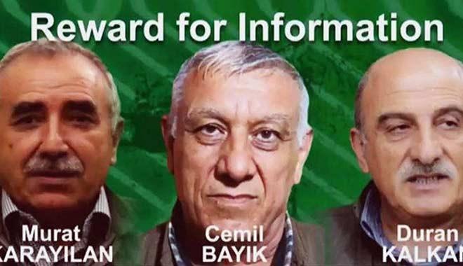 ABD, PKK'nın elebaşları için 12 milyon dolar ödül koydu!
