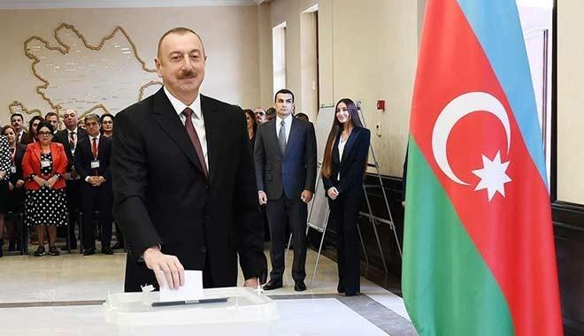 Aliyev rekor oyla yeniden Azerbaycan cumhurbaşkanı seçildi