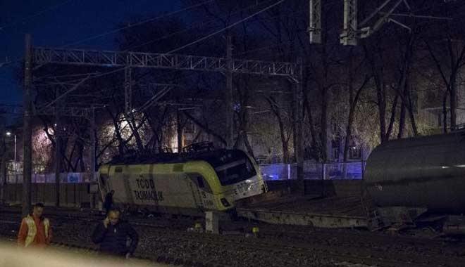 Ankara'da tren kazası: Yük treni raydan çıktı