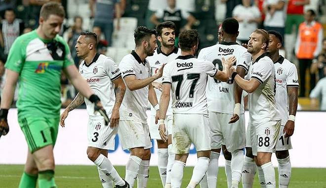 Avrupa kupalarındaki en farklı galibiyet... Beşiktaş gol yağmuruyla turladı