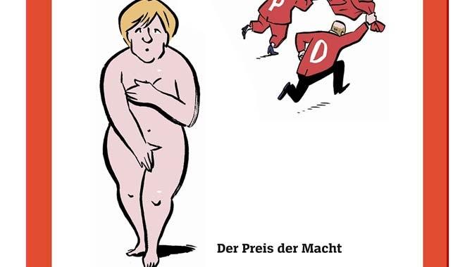 Basın özgürlüğü bu mu! Merkel çıplak!