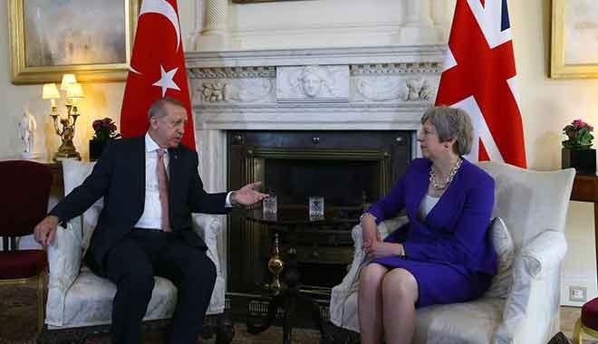 Cumhurbaşkanı Erdoğan ve İngiltere Başbakanı May'den flaş İsrail açıklaması