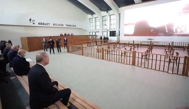 Erdoğan Demokrasi ve Özgürlükler Adası nda konuşuyor: Burada yapılan iş yargılama değil, bir hukuk cinayetiydi