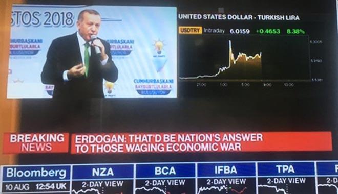 Erdoğan konuştu, Dolar/TL 6.20'ye çıktı