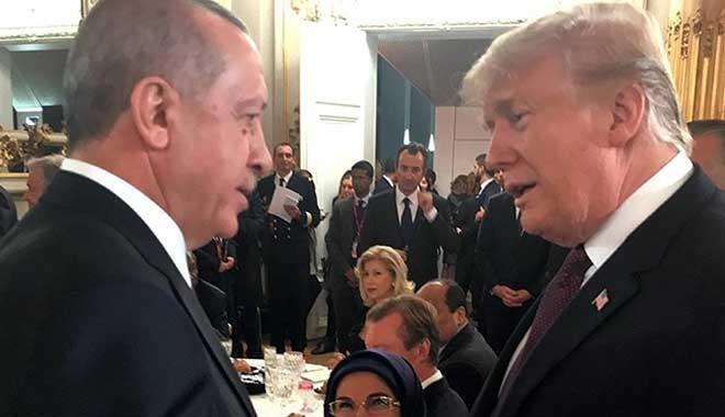 Erdoğan, yaptırım krizi sonrası Trump'la ilk kez Paris'te görüştü