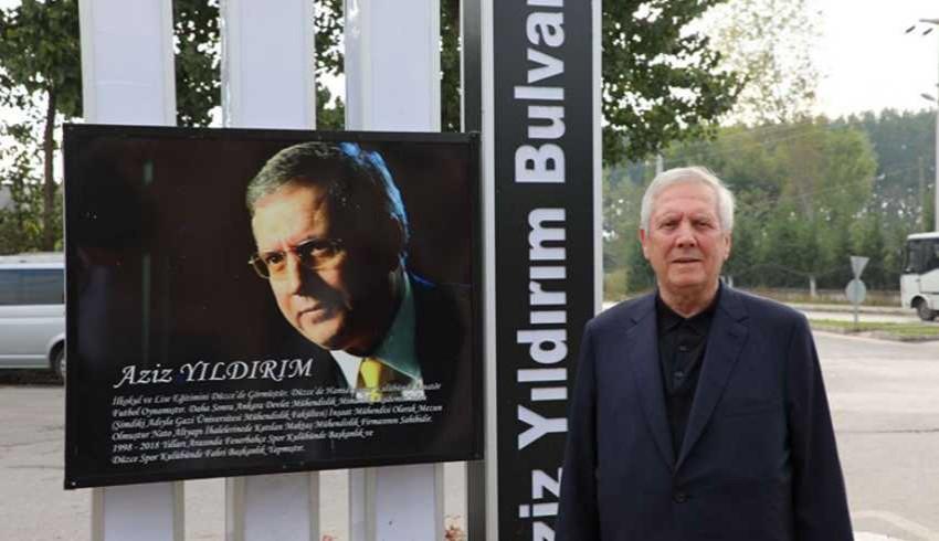Eski Fenerbahçe Başkanı Aziz Yıldırım adının verdiği bulvarı gezdi