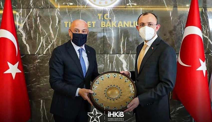 İHKİB Başkanı Mustafa Gültepe'den Bakan Muş'a ziyaret