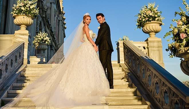 İş dünyasının gözde çifti Efe Bezci-Çağla Baykam rüya gibi düğünle evlendi