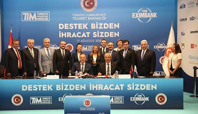 Kaynak TİM'den, kredi Eximbank'tan