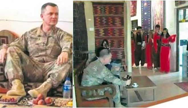 PKK/YPG'li teröristler ABD'li Generali eğlendirmek için dansöz oldular