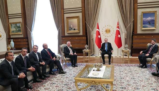 Patronlar Kulübü'nden Cumhurbaşkanı Erdoğan'a ziyaret