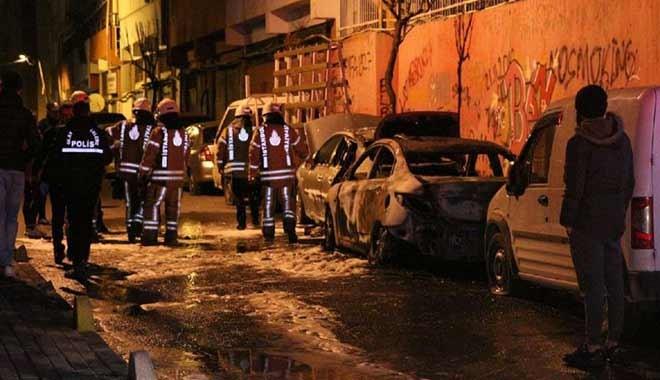 Şişli'de 18 aracın lastikleri kesildi, sonra ateşe verildi