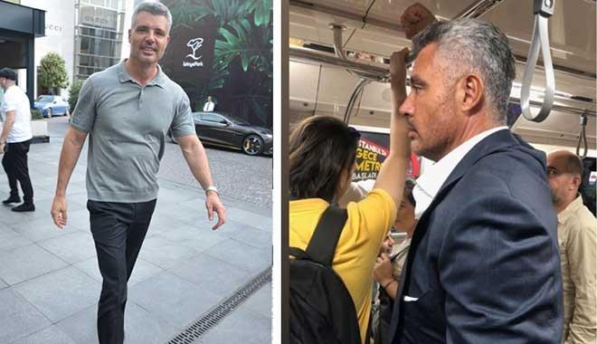 Ünlü patron metroda görüntülendi