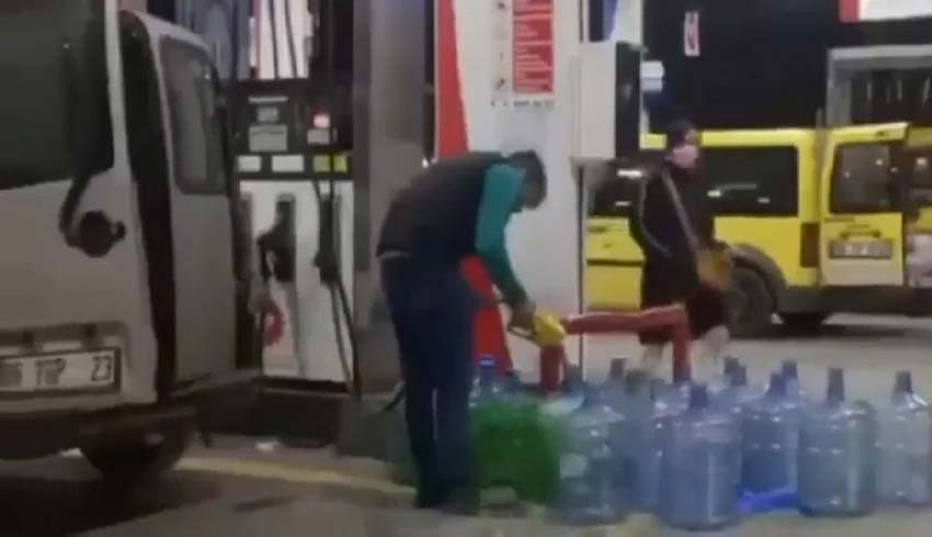 Vatandaş damacanaya benzin doldurdu!
