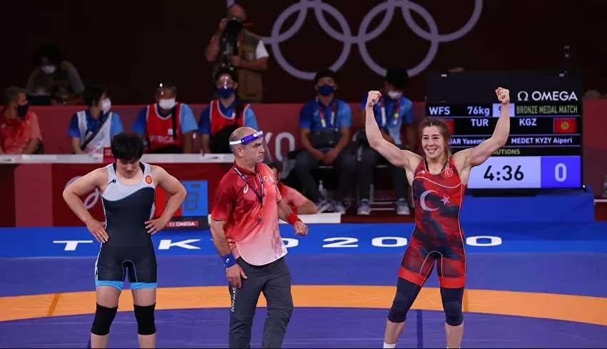 Yasemin Adar, Olimpiyat tarihine geçti: 84 saniyede tuş etti